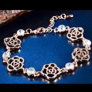 Jewelry - Black Rose Rhinestone Bracelet